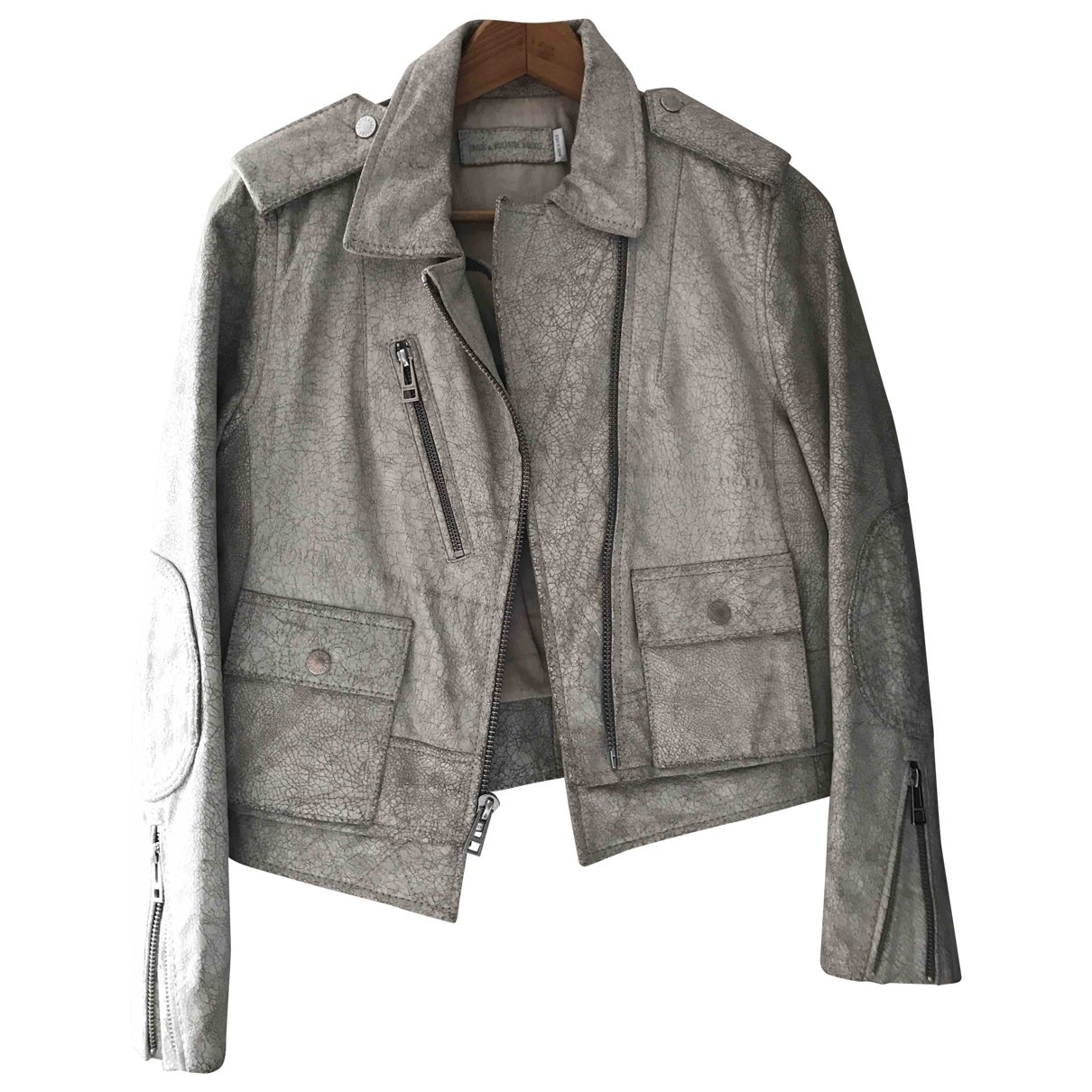 Zadig & Voltaire \N Leather jacket for Women 36 FR