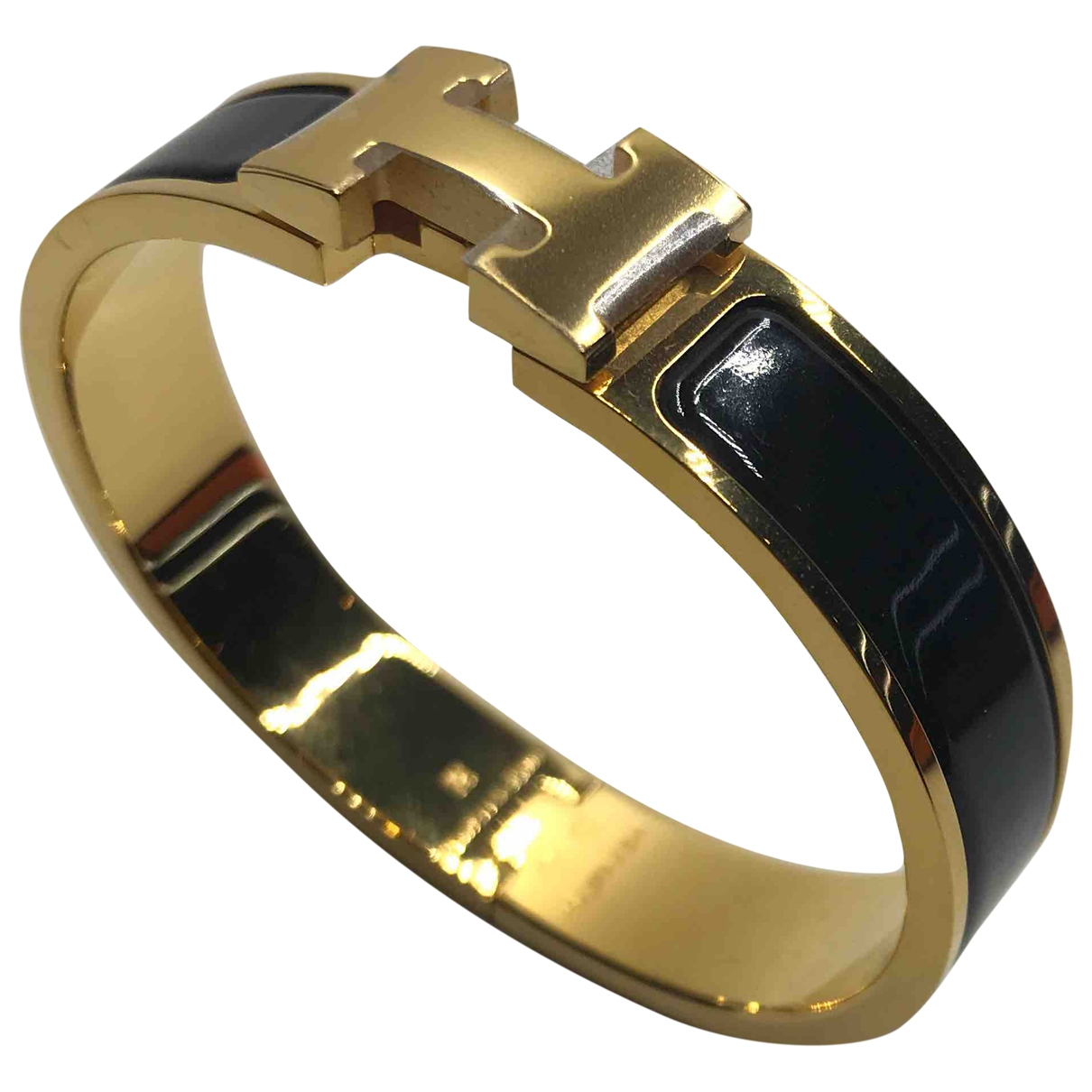 Hermès Clic H Black Metal bracelet for Women \N