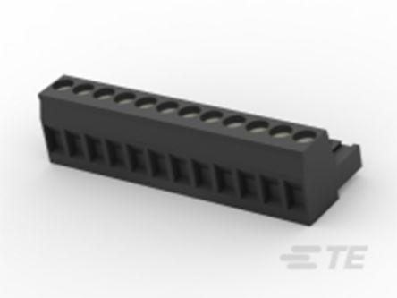 TE Connectivity , TB 5mm Pitch, 12 Way PCB Terminal Block, Black (50)