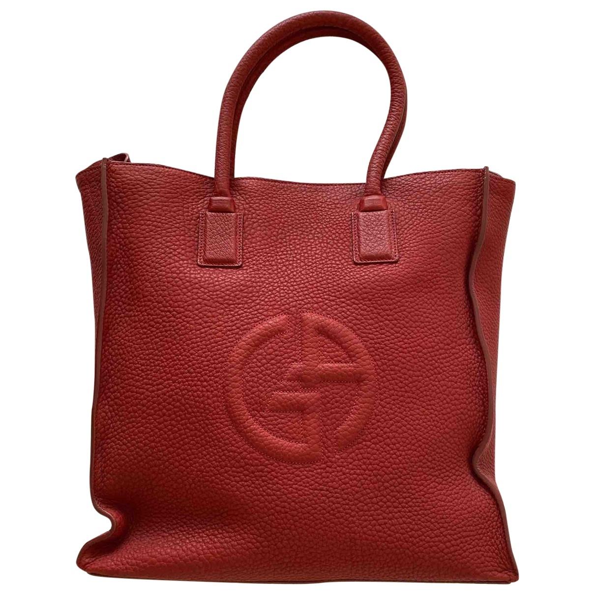 Giorgio Armani - Sac a main   pour femme en cuir - rouge