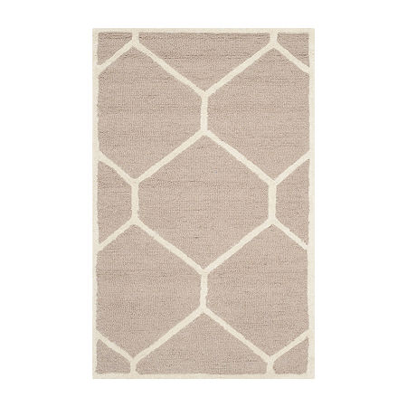 Safavieh Tryik Geometric Hand Tufted Wool Rug, One Size , Beige