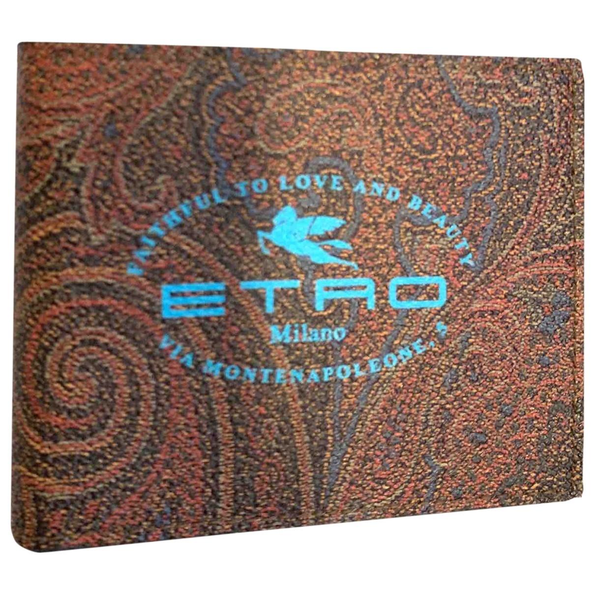 Etro - Petite maroquinerie   pour homme en cuir - multicolore