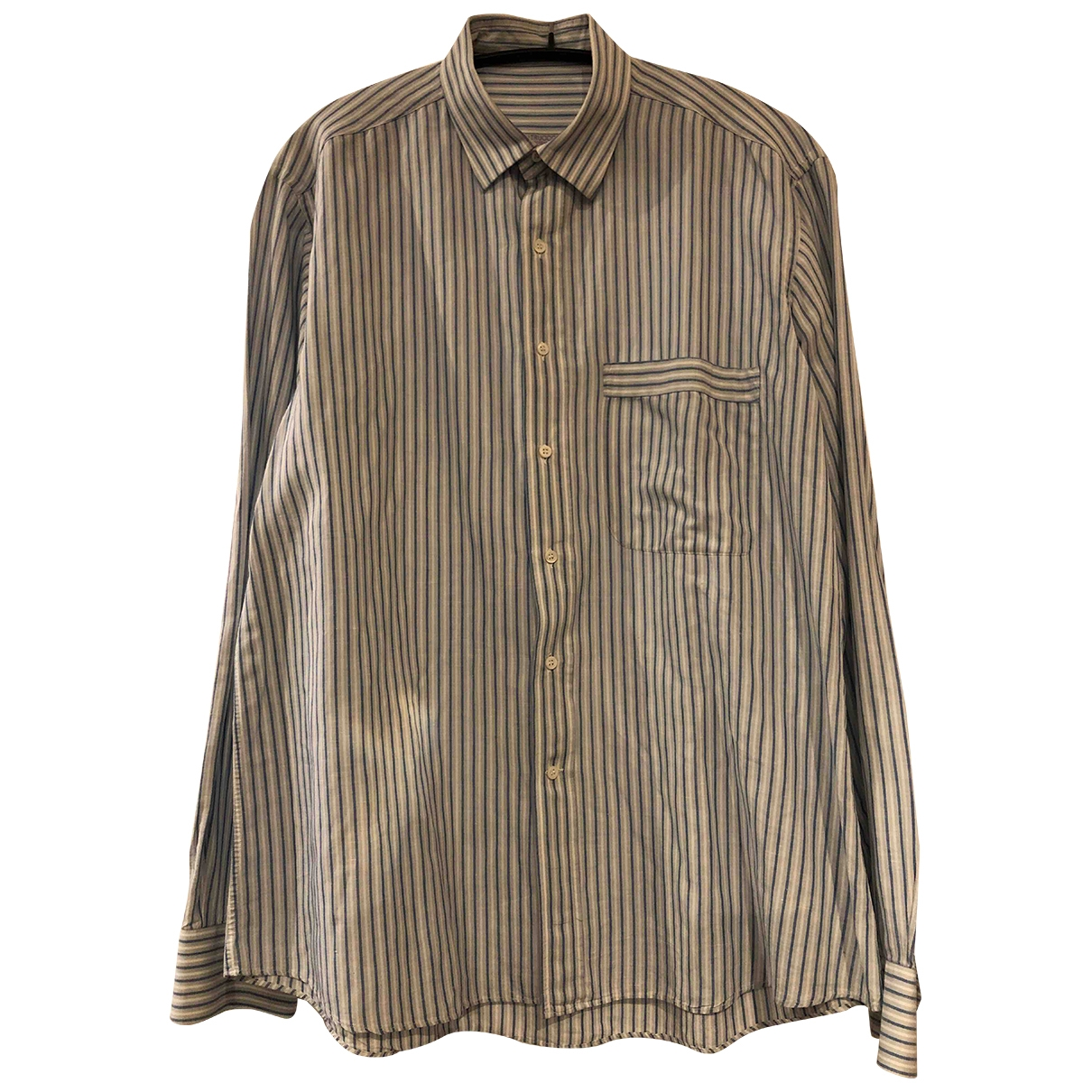Non Signé / Unsigned \N Blue Cotton Shirts for Men 41 EU (tour de cou / collar)