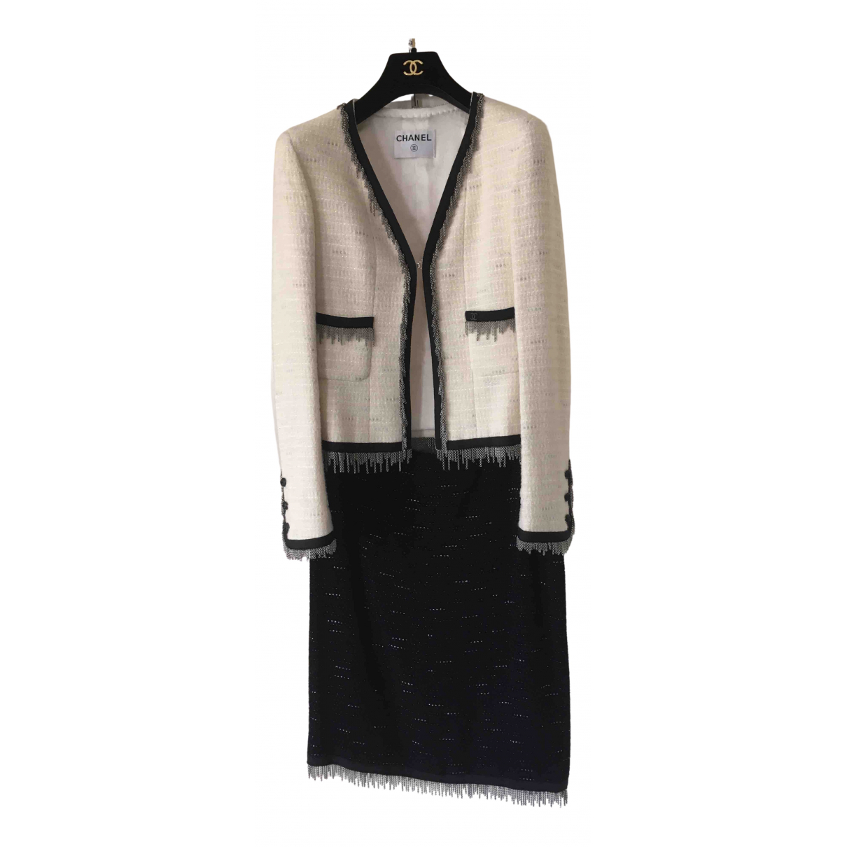 Chanel \N White Wool jacket for Women 36 FR