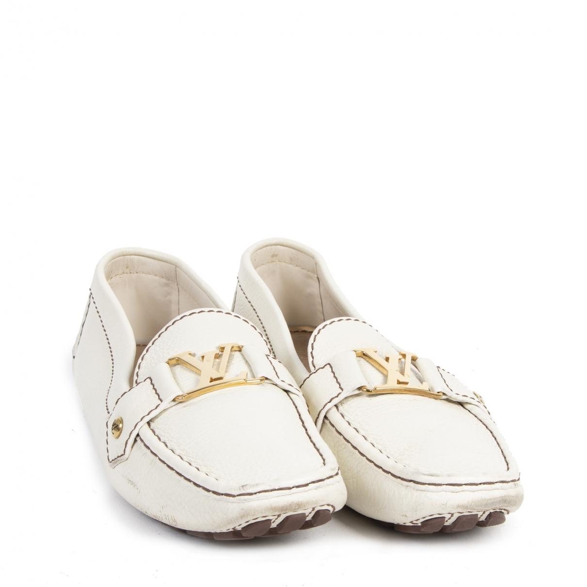 Louis Vuitton - Mocassins   pour femme en cuir - blanc