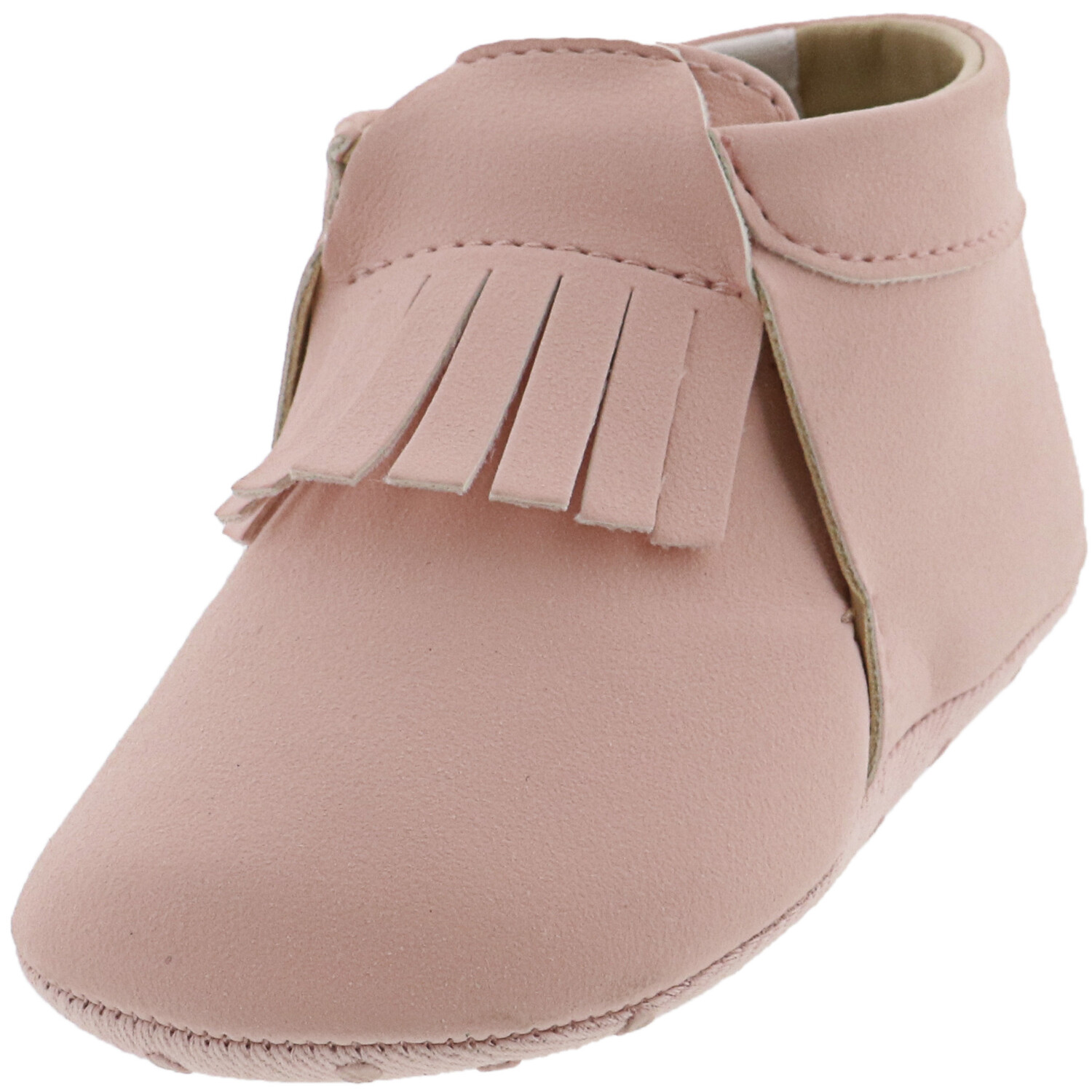 Janie And Jack Moccasin Crib Bootie Bubblegum Pink Ankle-High Booties & Shoe - 5M