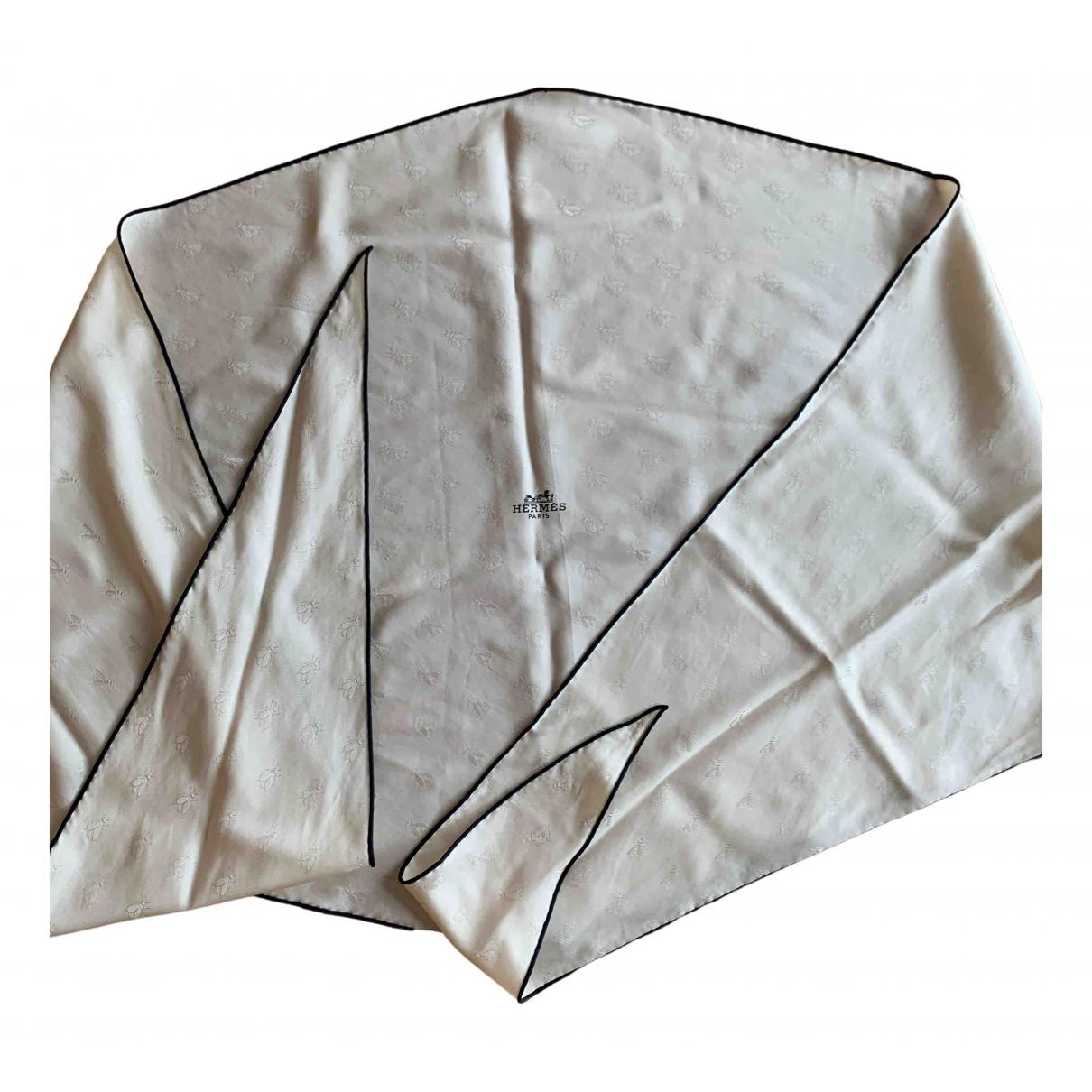 Hermes - Foulard Losange pour femme en soie - beige