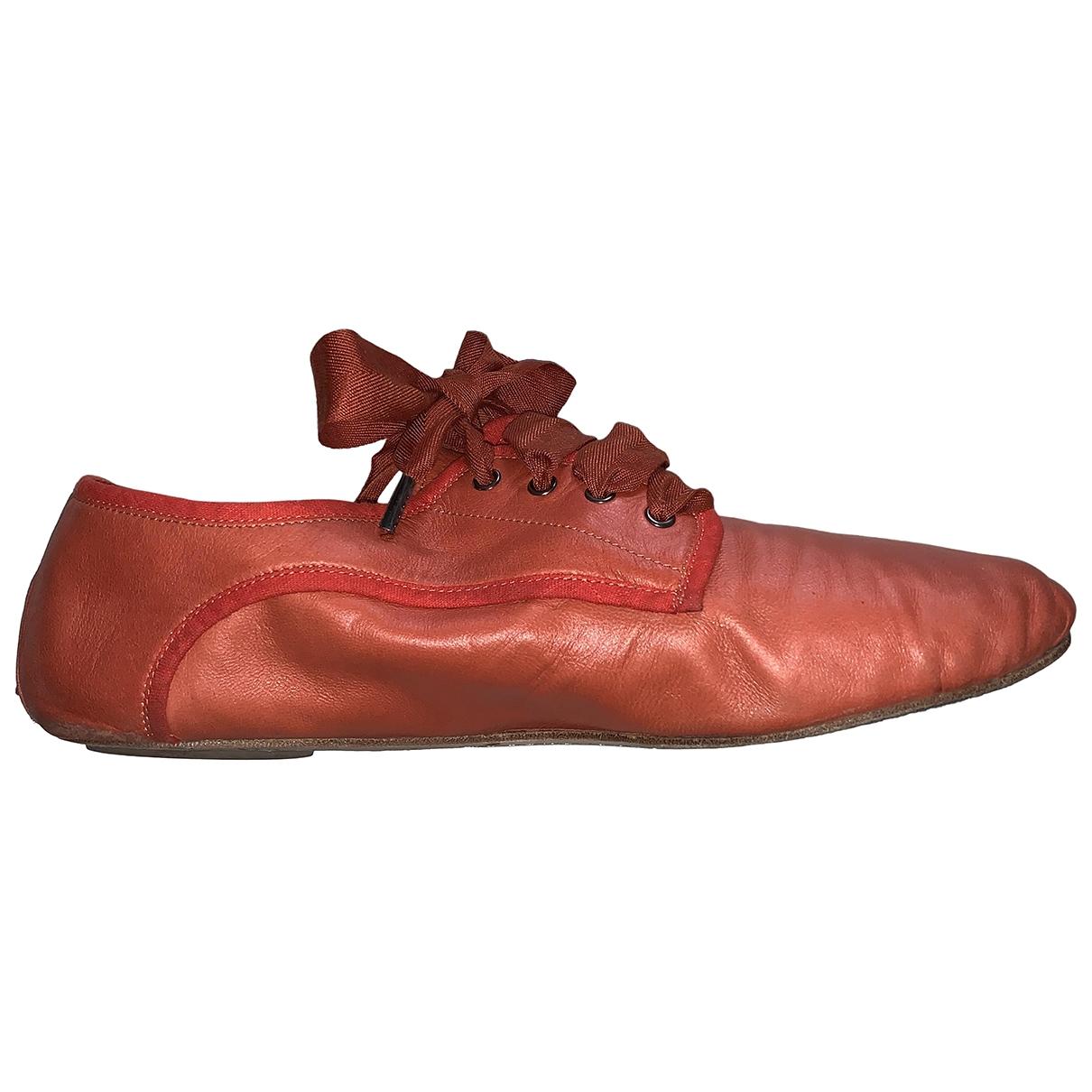 Chloé \N Orange Leather Lace ups for Women 39 EU