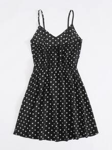 Polka Dot Print Cami Dress