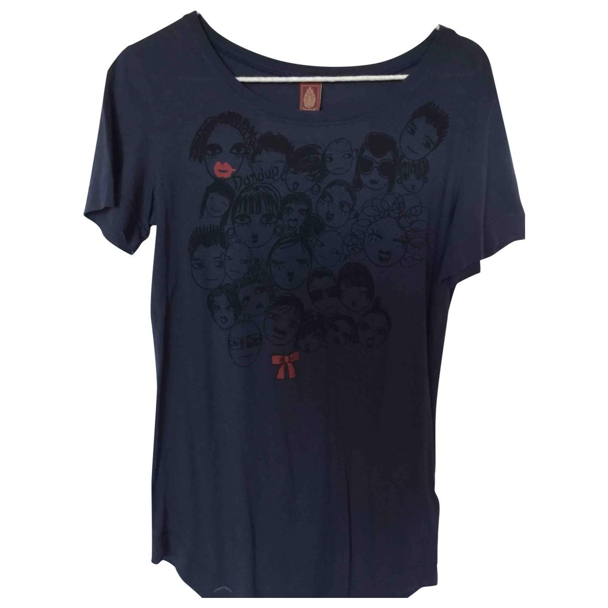 Dondup - Top   pour femme en coton - bleu