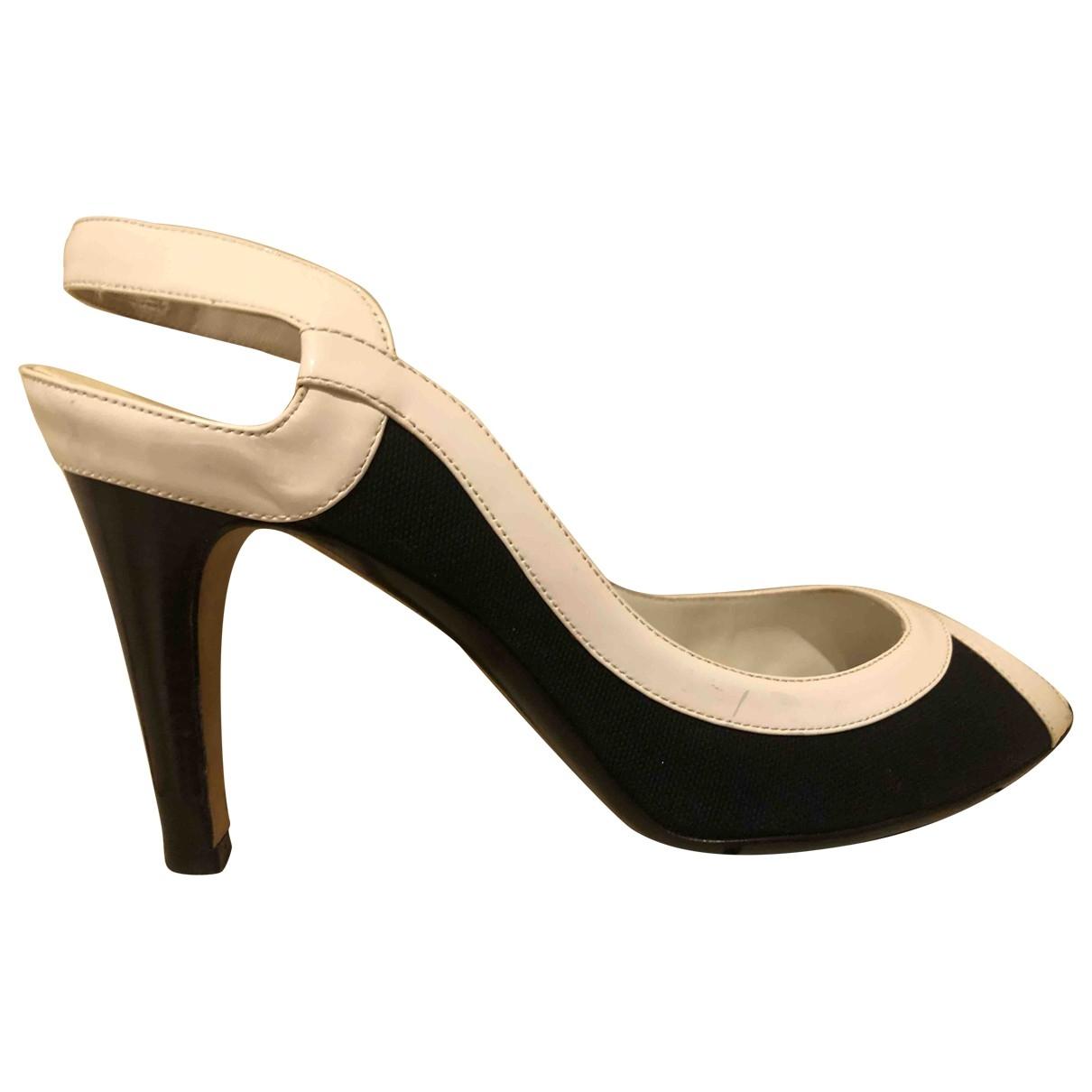 Salvatore Ferragamo \N Blue Leather Heels for Women 40.5 EU