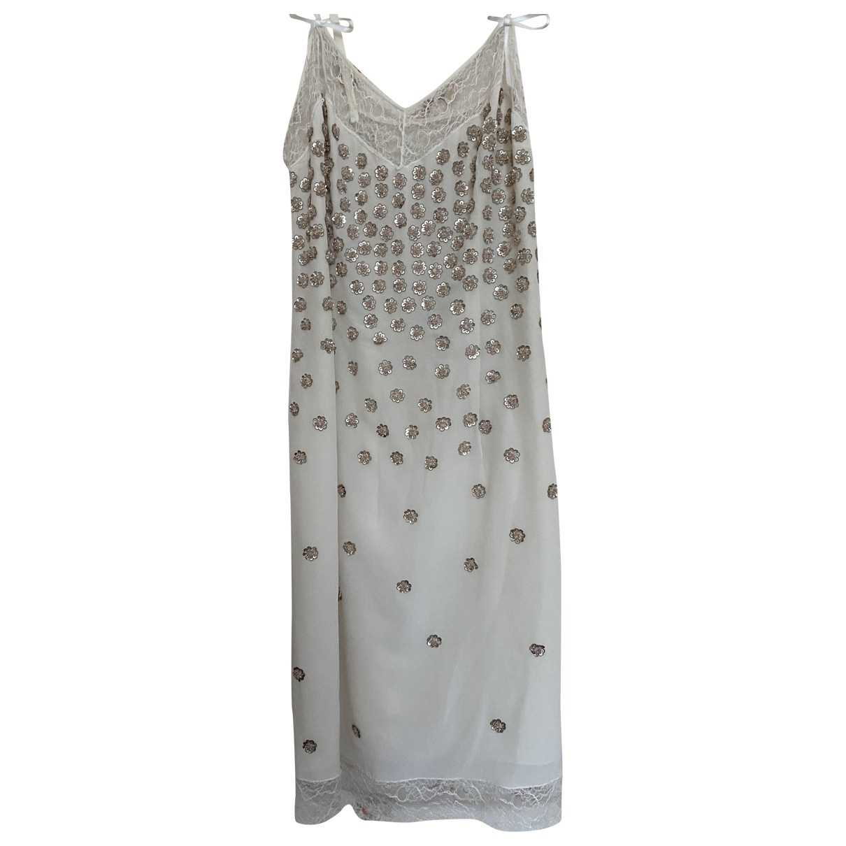 Dior - Robe   pour femme en dentelle - beige
