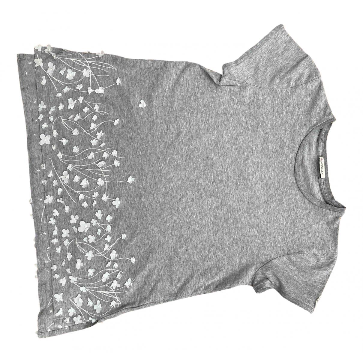 Moncler - Top   pour enfant en coton - gris