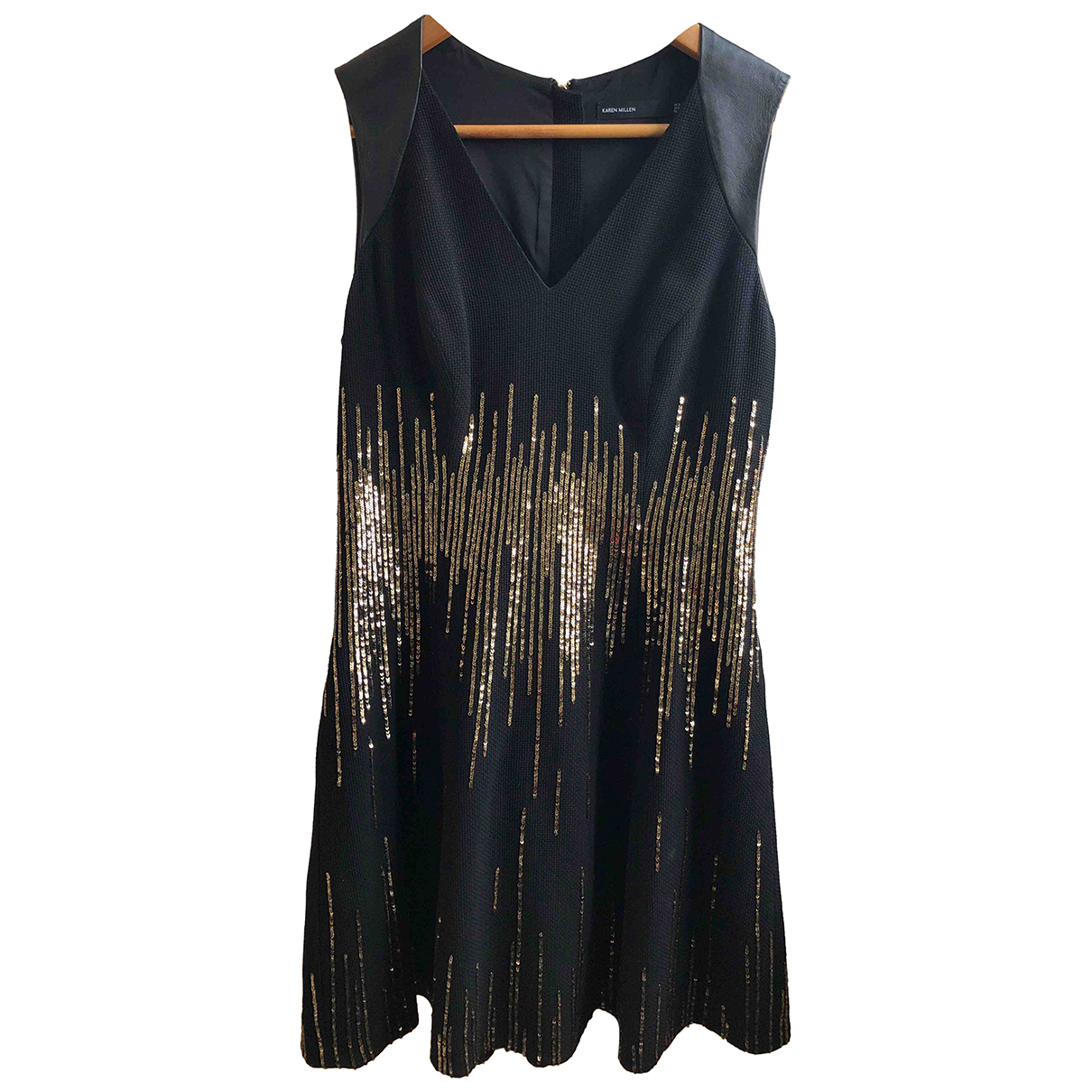 Karen Millen N Black Glitter dress for Women 12 UK