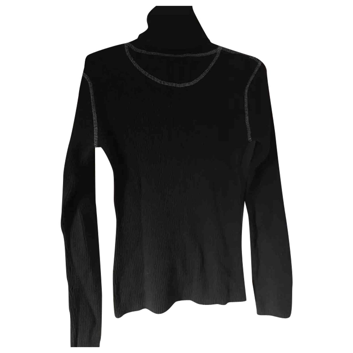 - Pull   pour femme en coton - noir