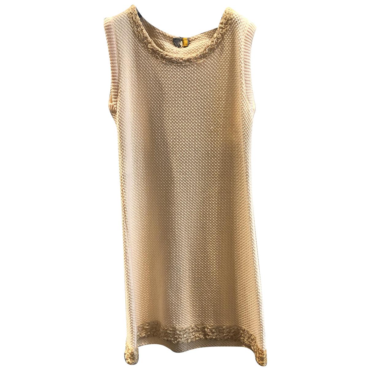 Fendi \N Kleid in  Rosa Baumwolle