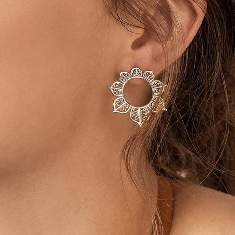Ericdress Flower Alloy Earrings