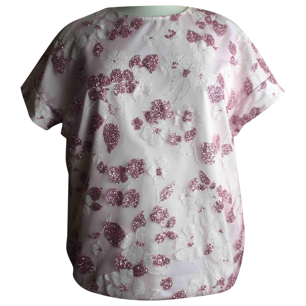 - Top Oversize pour femme en dentelle - rose