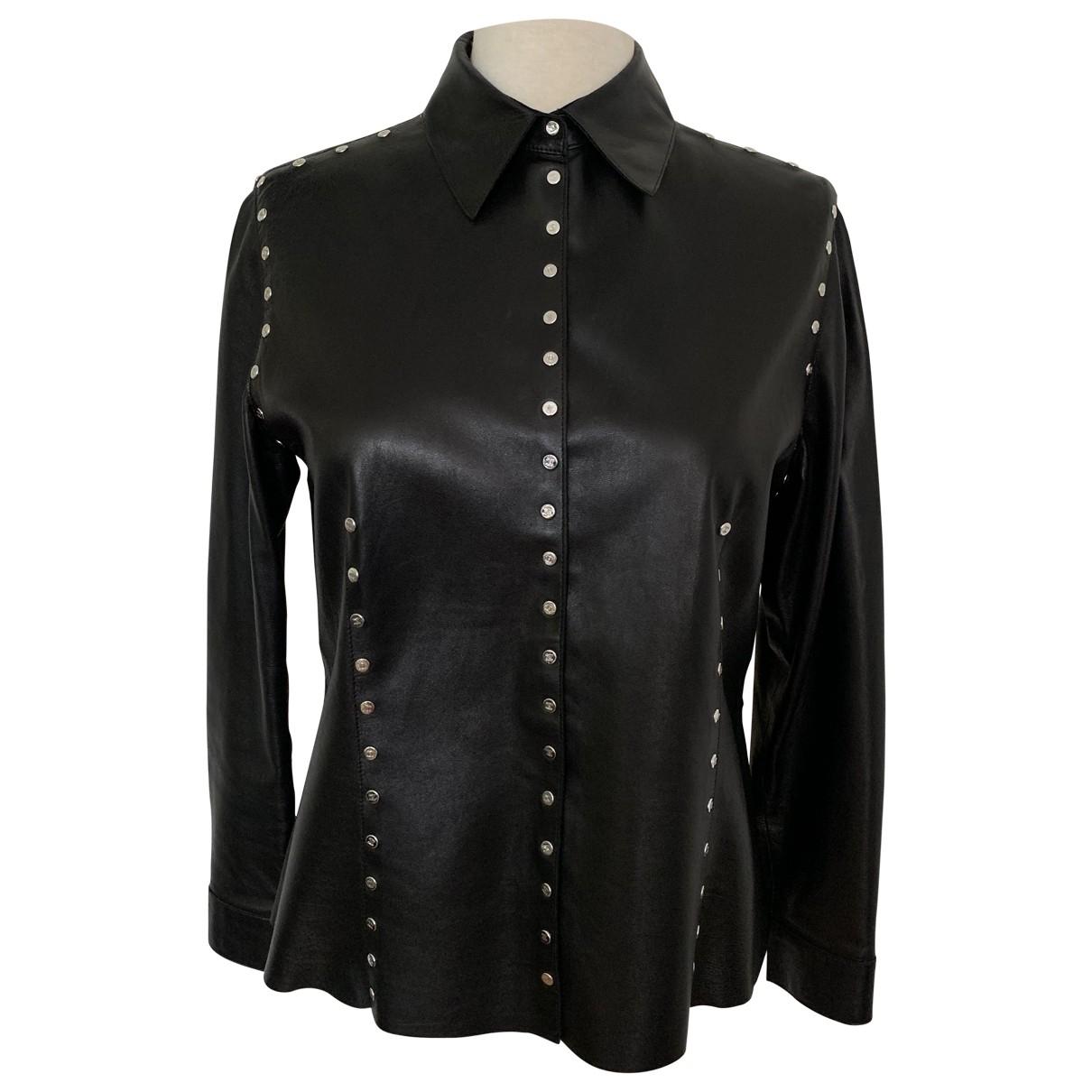 Celine \N Top in  Schwarz Leder