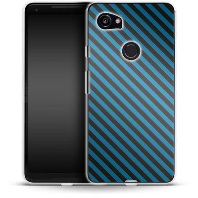 Google Pixel 2 XL Silikon Handyhuelle - Stripes von caseable Designs
