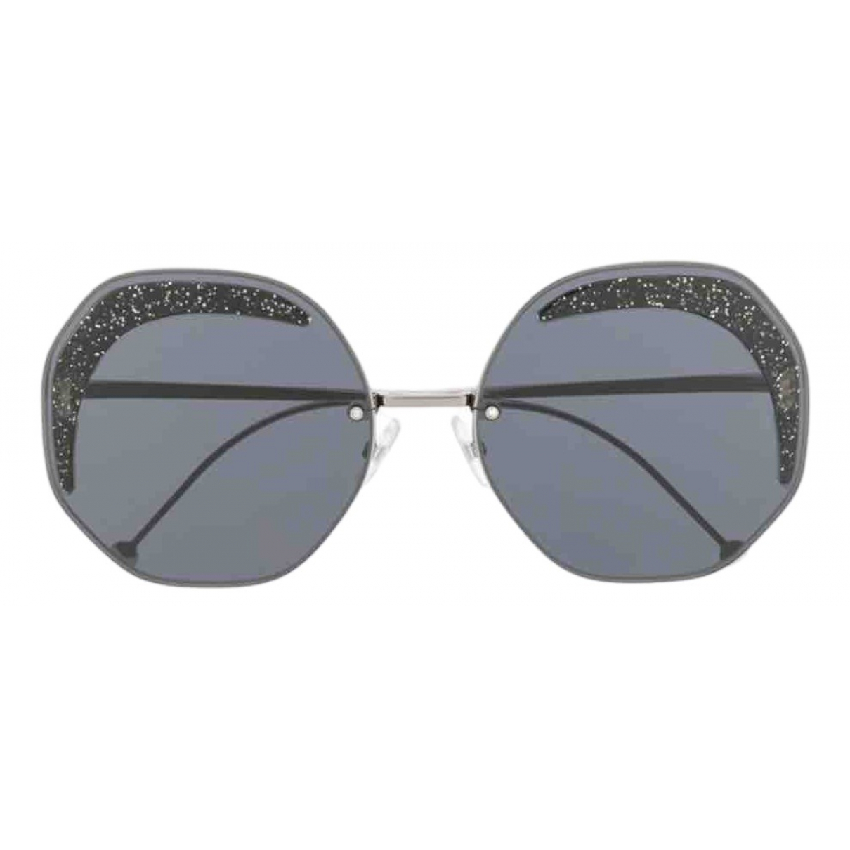 Fendi \N Black Metal Sunglasses for Women \N