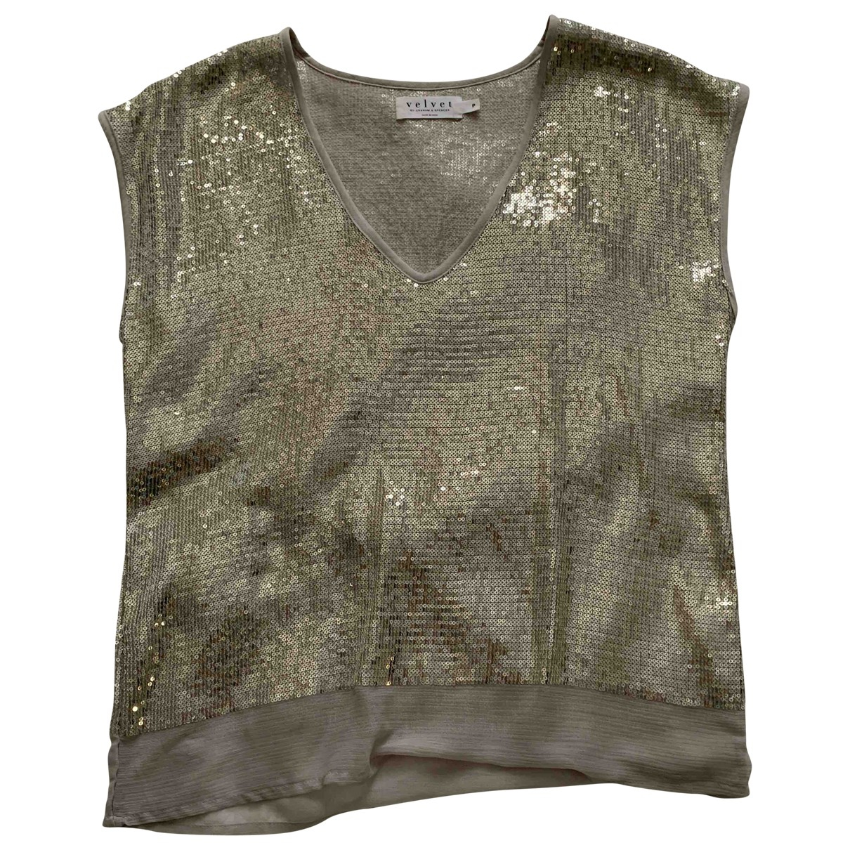 Velvet \N Gold Glitter  top for Women S International