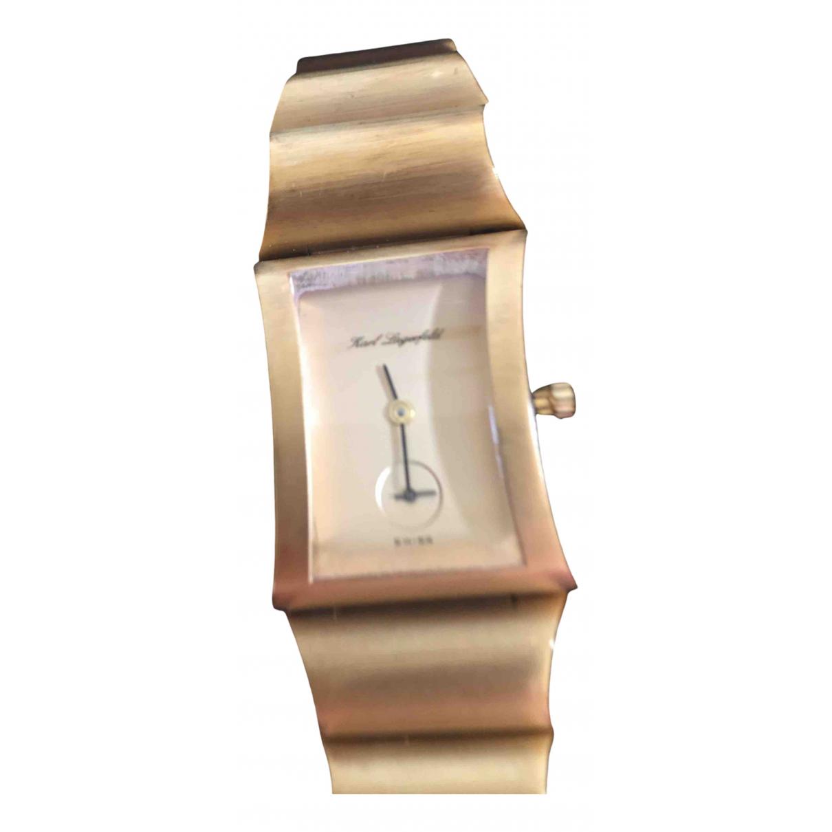 Karl Lagerfeld N Gold Steel watch for Women N