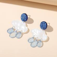 Cloud Design Acrylic Earrings