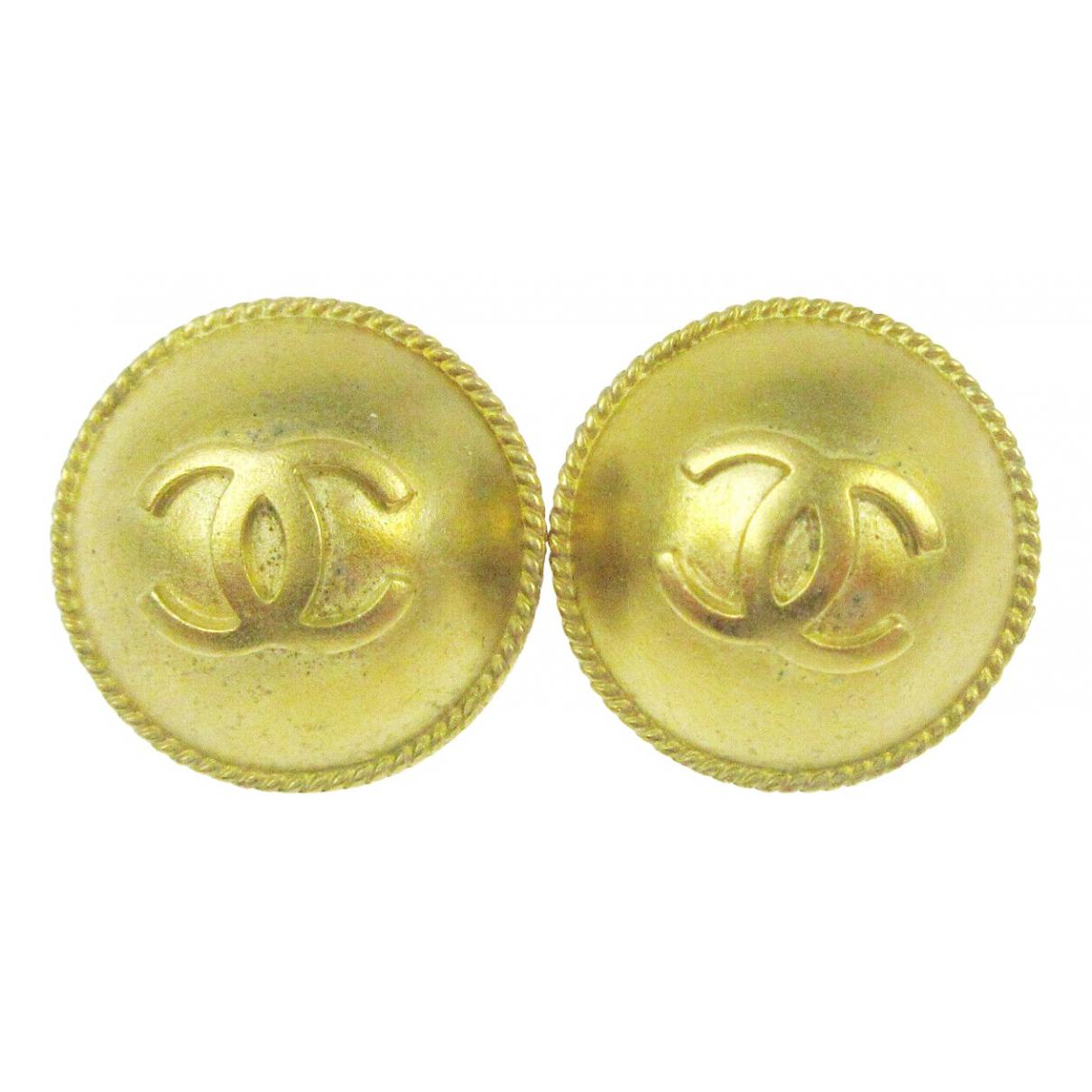 Chanel CC Gold Metal Earrings for Women \N