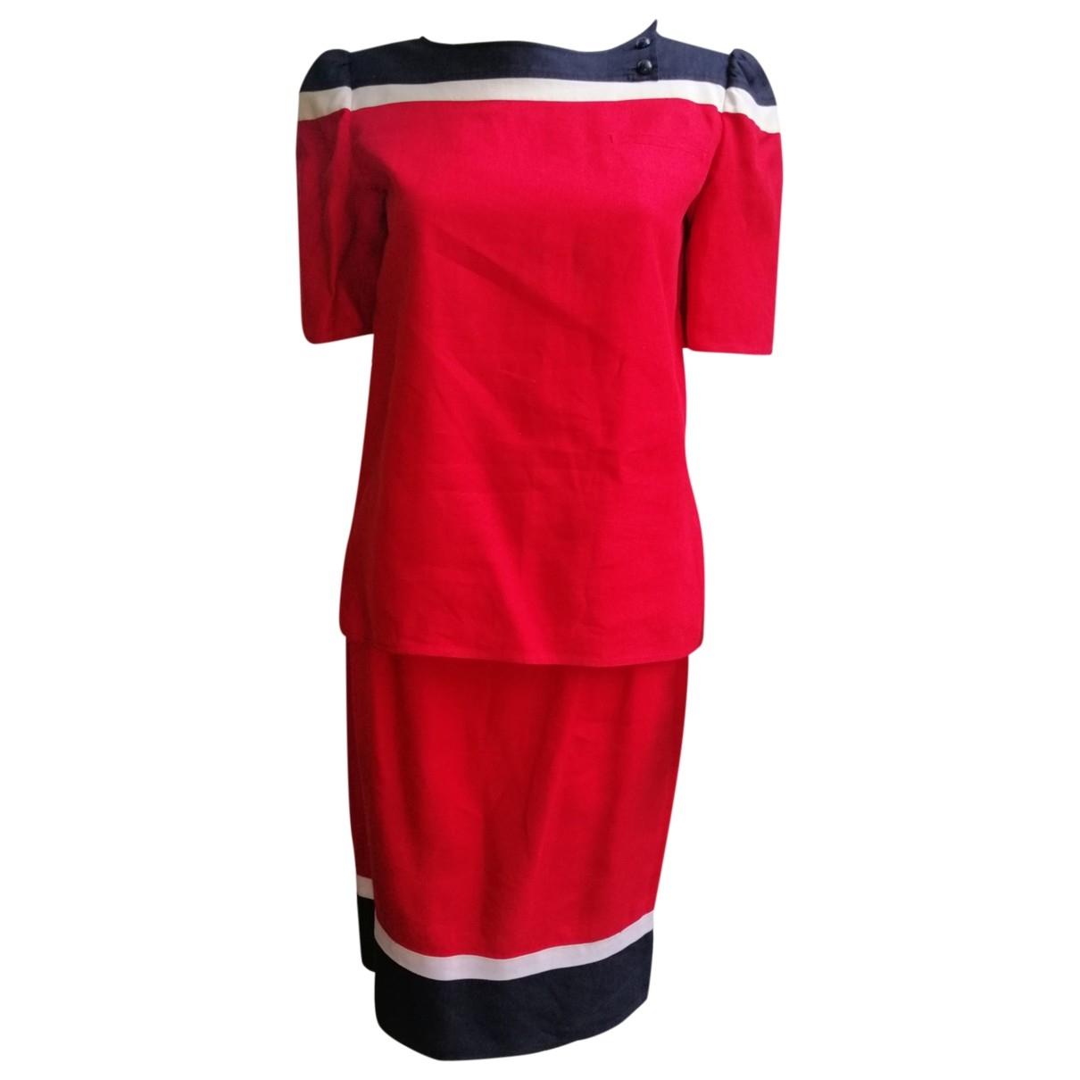 Valentino Garavani - Combinaison   pour femme en lin - rouge