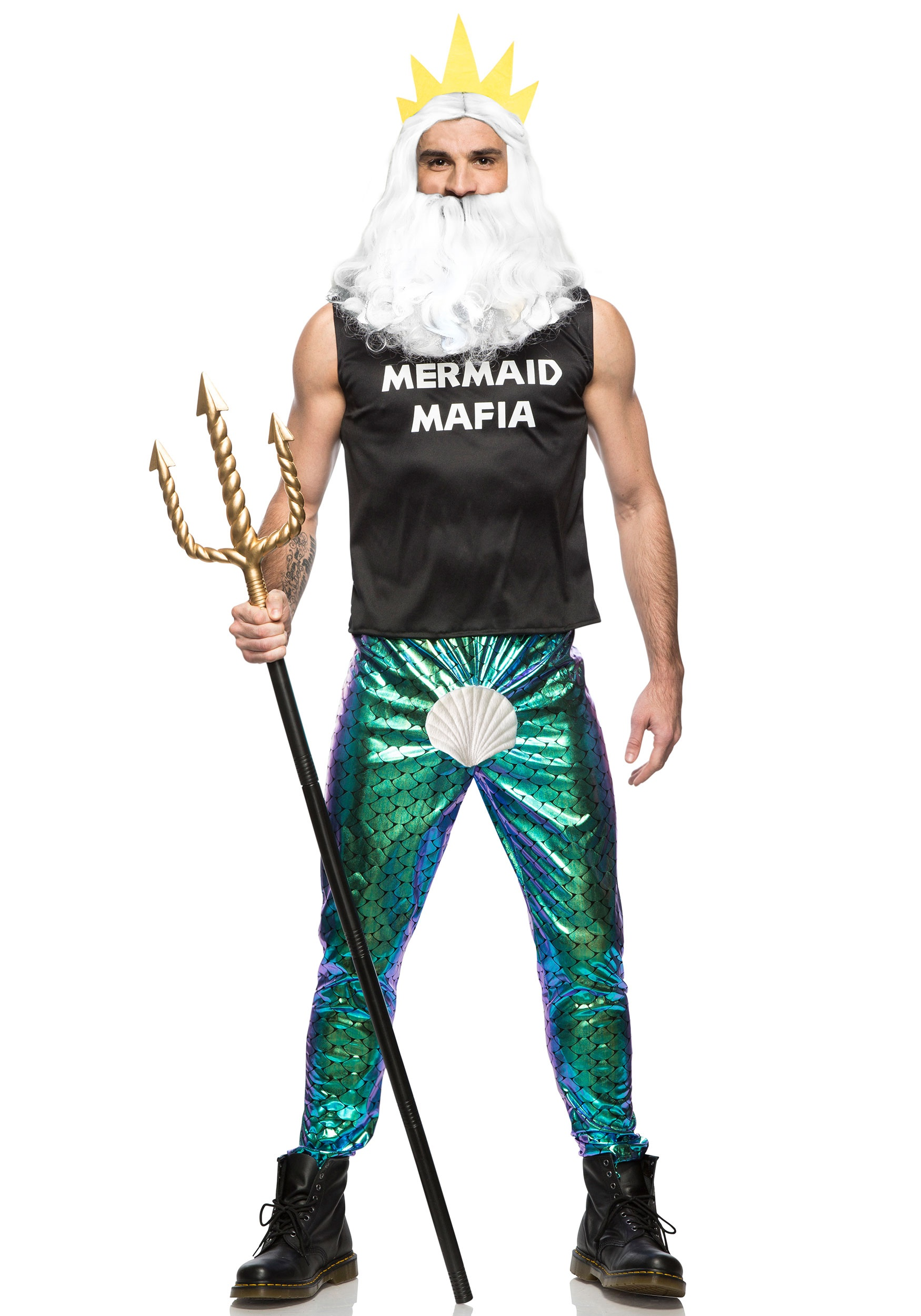 Mermaid Mafia Mens Costume | Unique Halloween Costumes