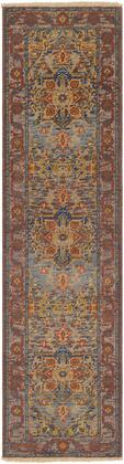 Cappadocia CPP-5022 2 x 3 Rectangle Traditional Rug in Sage  Bright Purple  Dark Blue  Mustard  Grass