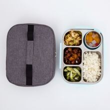 1pc Geometric Elk Print Insulation Lunch Bag