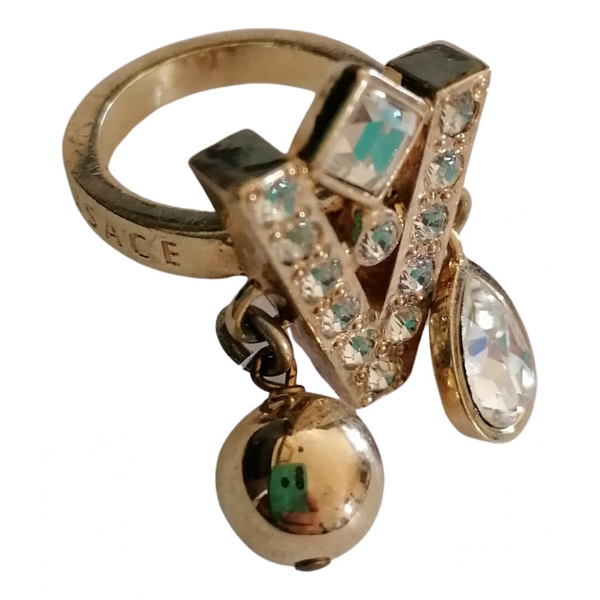 Versace \N Gold Metal ring for Women 44 EU
