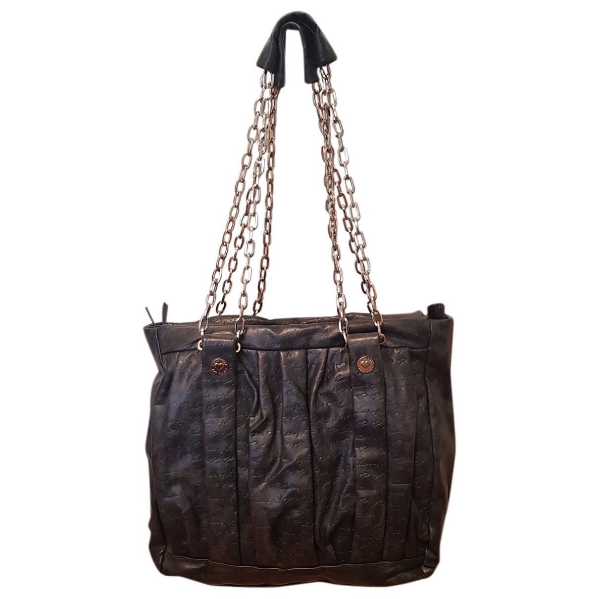 Twin Set \N Handtasche in  Grau Leder