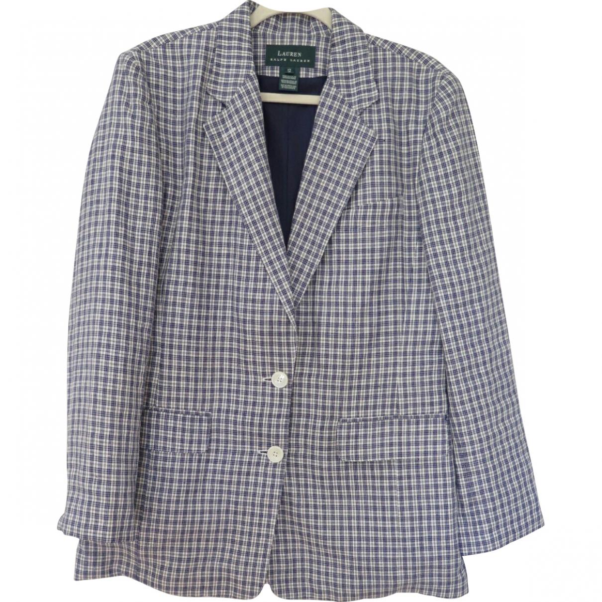 Lauren Ralph Lauren \N Blue Linen jacket for Women 12 US