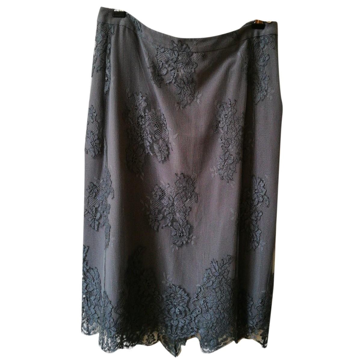 Falda midi de Seda Burberry
