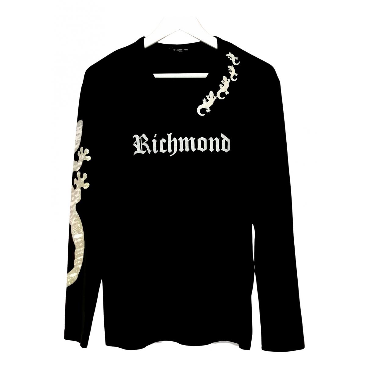 John Richmond - Pulls.Gilets.Sweats   pour homme en coton - noir