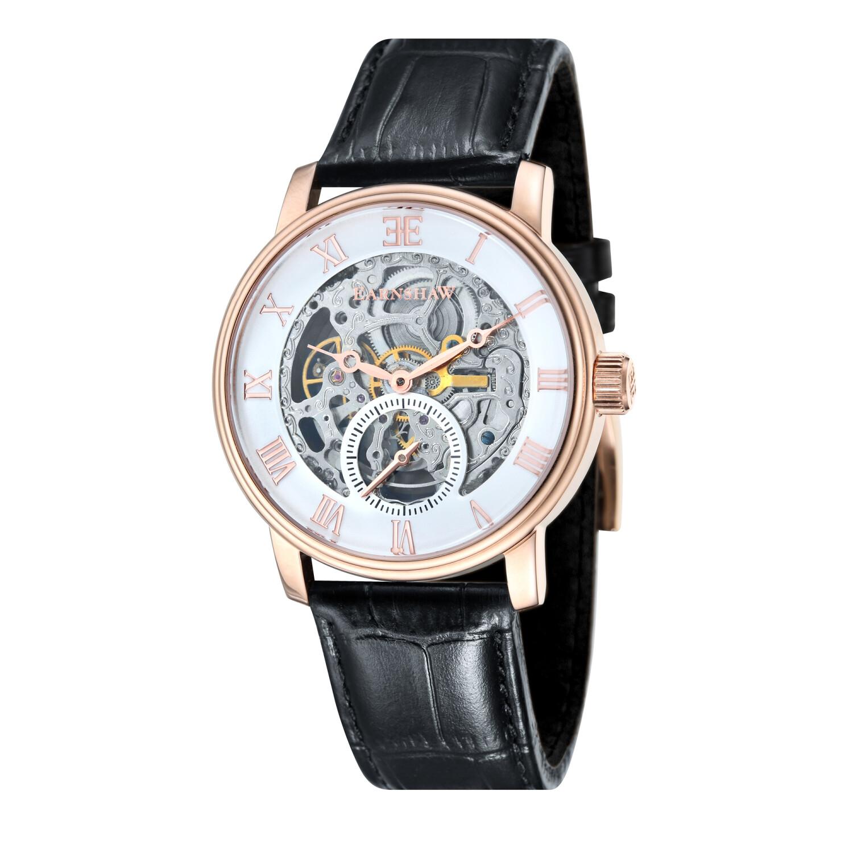 Thomas Earnshaw Men's Westminster ES-8041-03 Black Leather Japanese Quartz Fashion Watch