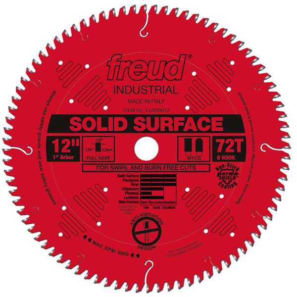 """12"""" Full Kerf Solid Surface Blade"""