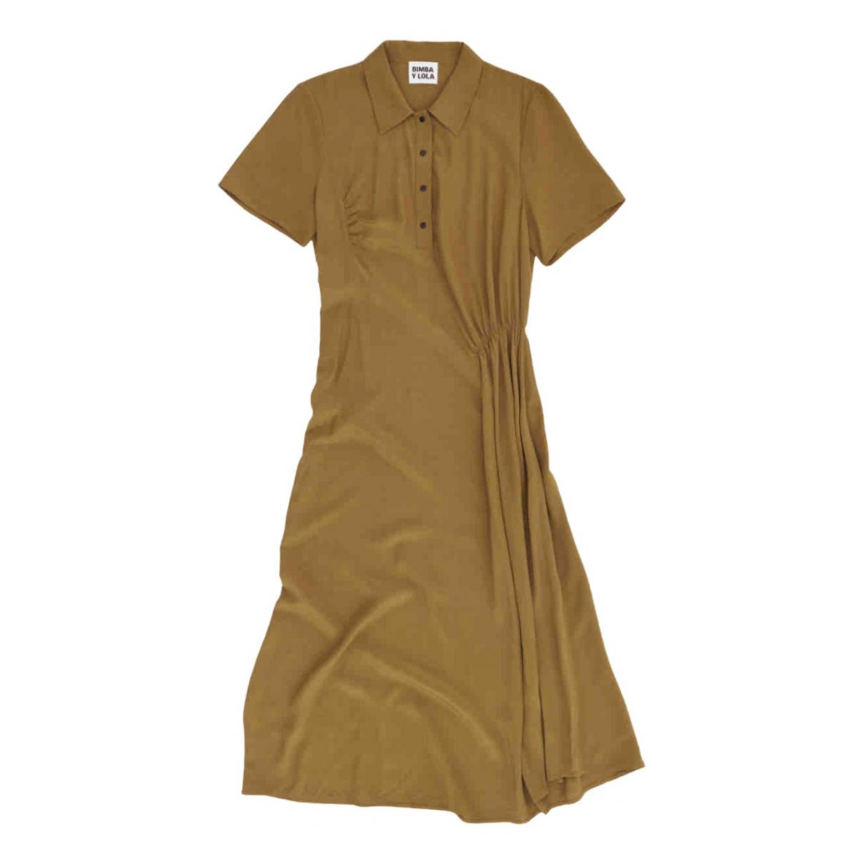 Bimba Y Lola \N Kleid in  Khaki Viskose