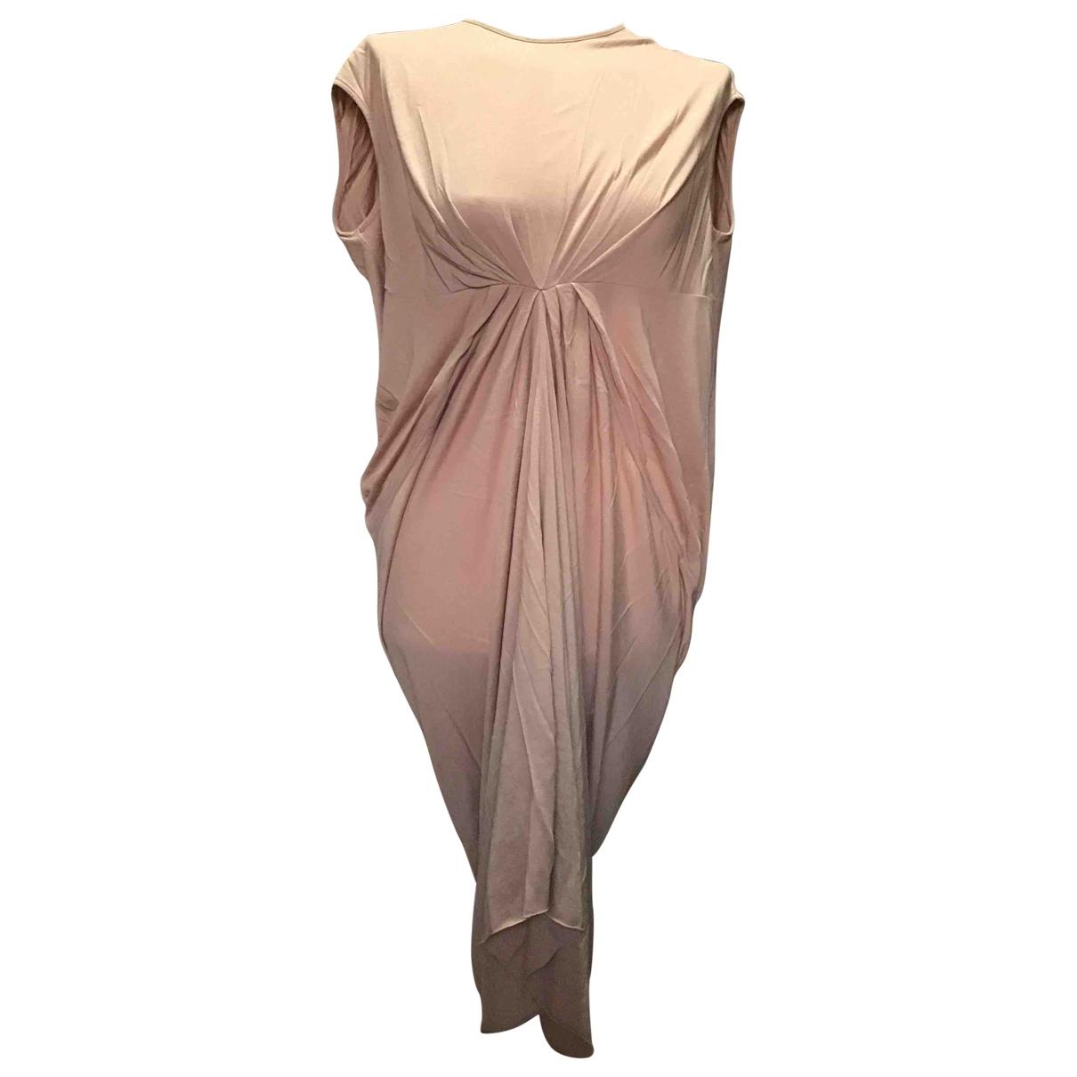 Rick Owens \N Kleid in  Beige Baumwolle