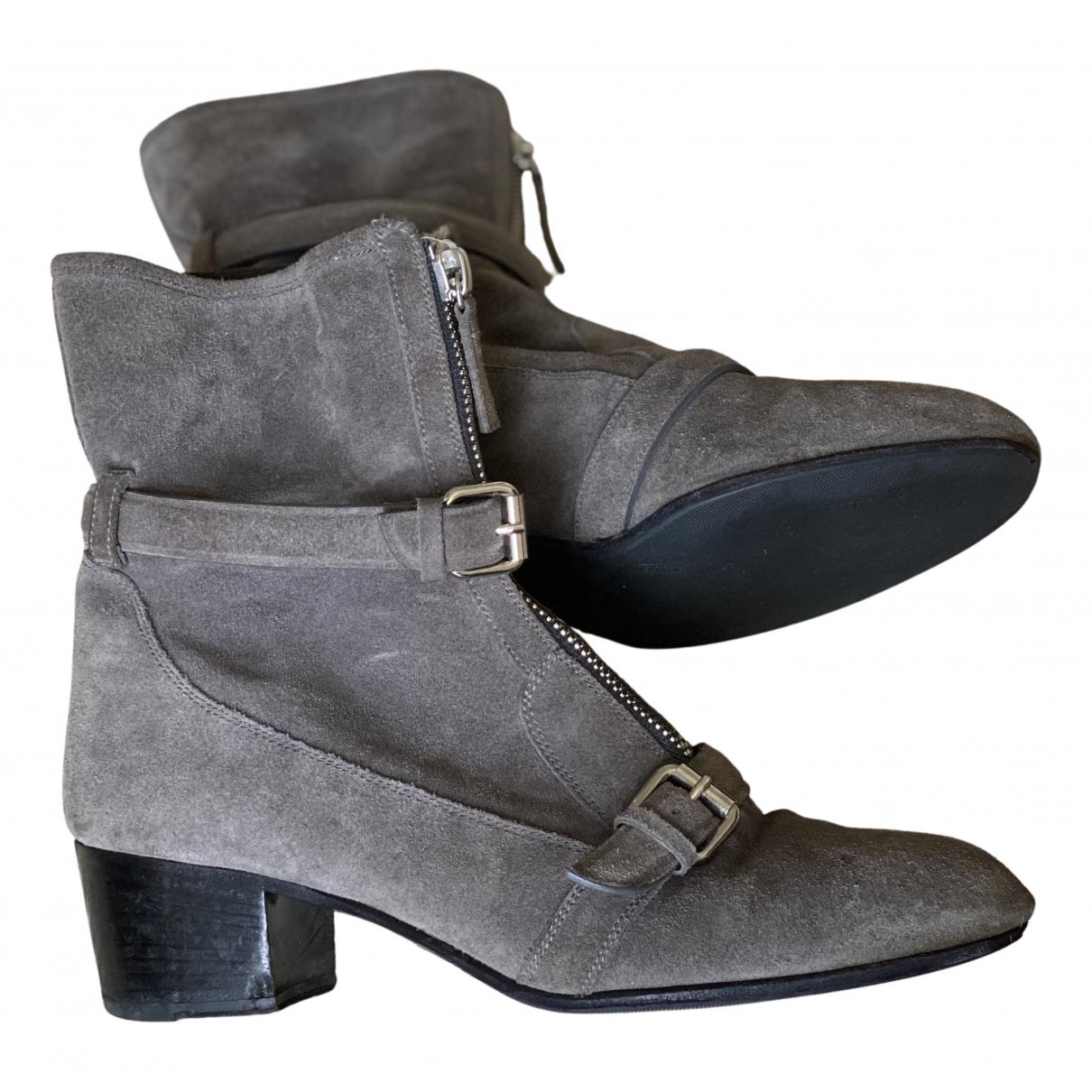 Tabitha Simmons - Boots   pour femme en suede - gris
