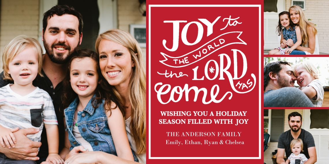 Christmas Photo Cards Flat Matte Photo Paper Cards with Envelopes, 4x8, Card & Stationery -Christmas The Lord Has Come