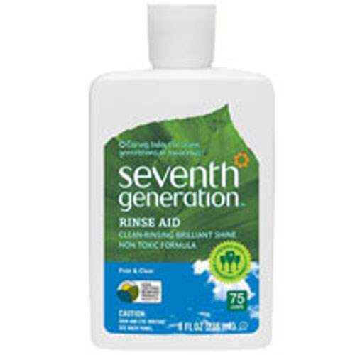 Dishwasher Rinse Aid Free and Clear 8 OZ by Seventh Generation