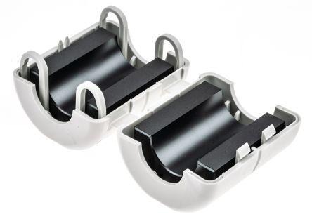 Wurth Elektronik Openable Ferrite Sleeve, 43 x 56 x 47mm, For EMI Suppression, Apertures: 1, Diameter 17 → 21mm