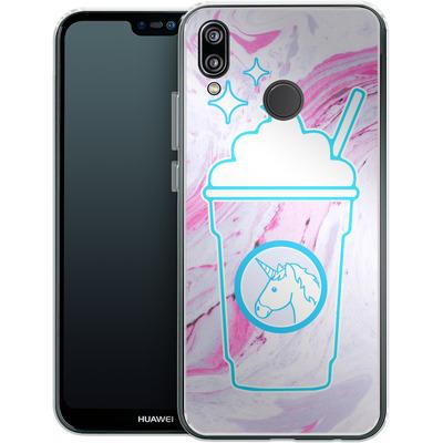 Huawei P20 Lite Silikon Handyhuelle - Unicorn Frappuccino von caseable Designs
