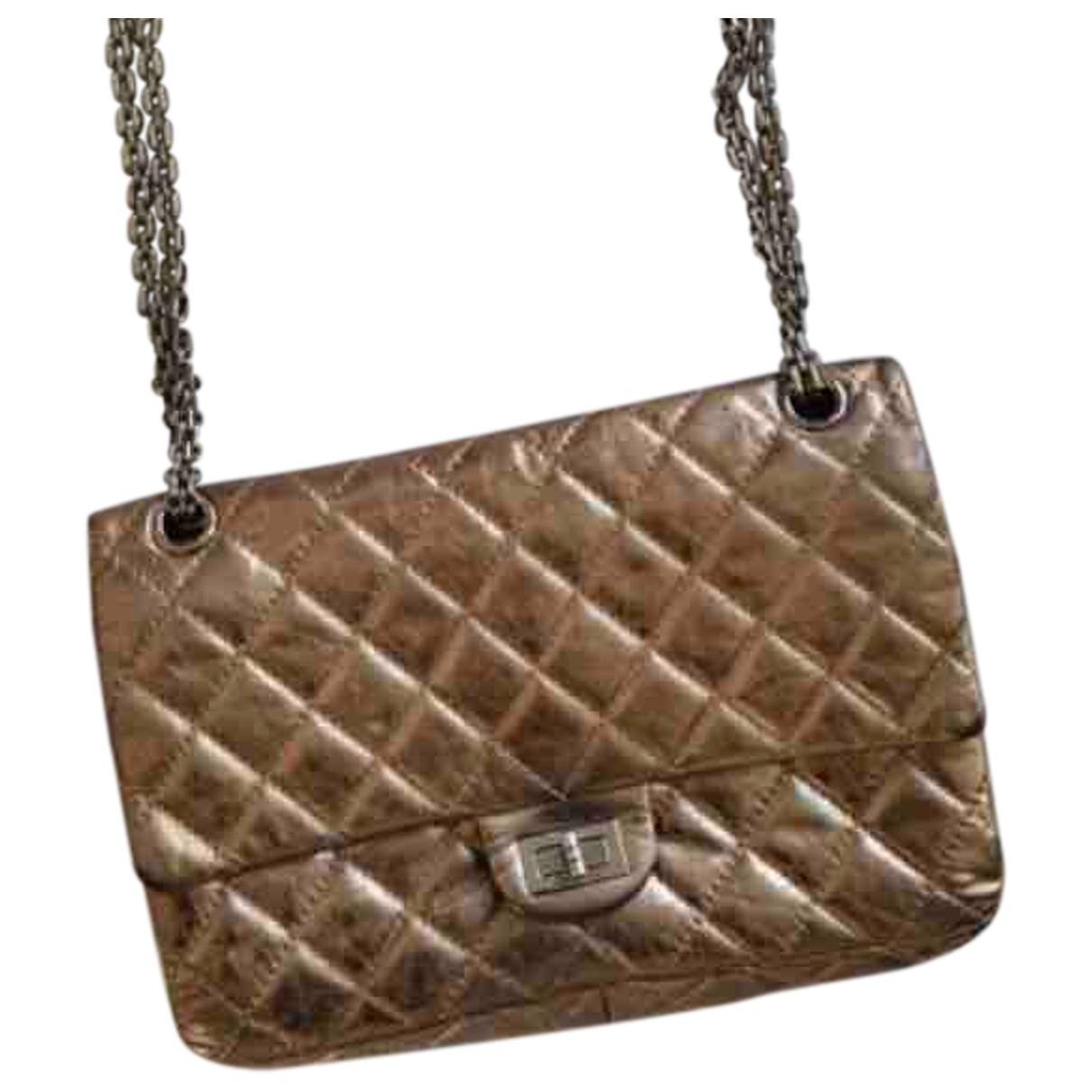Chanel 2.55 Handtasche in  Gold Leder