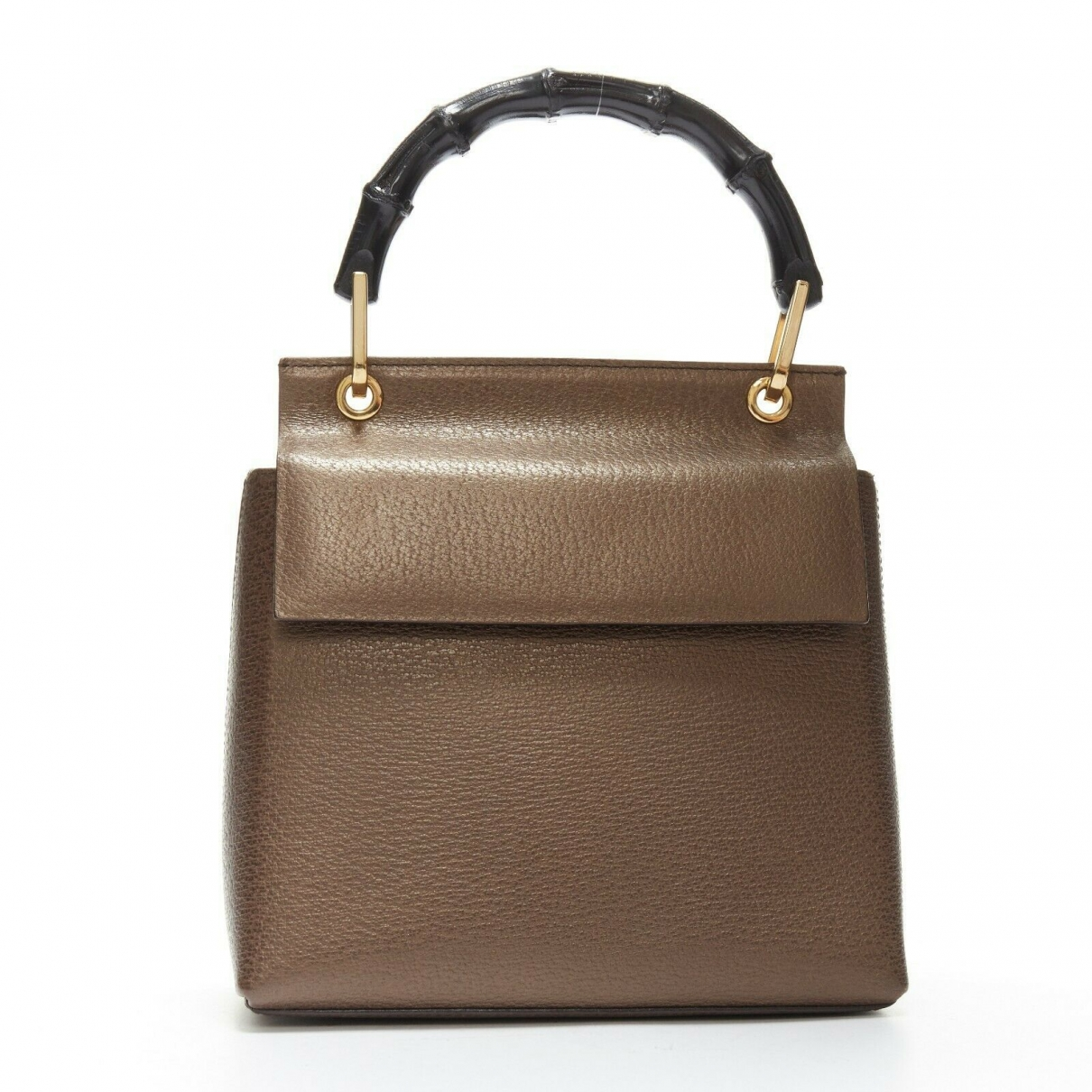 Gucci Bamboo Black Leather handbag for Women \N
