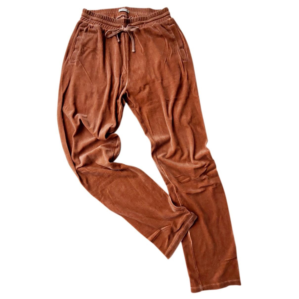 Pantalones en Algodon Marron Bottega Veneta